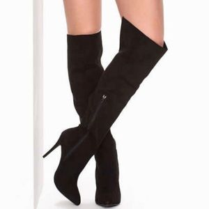 Black Stiletto Over The Knee Boot